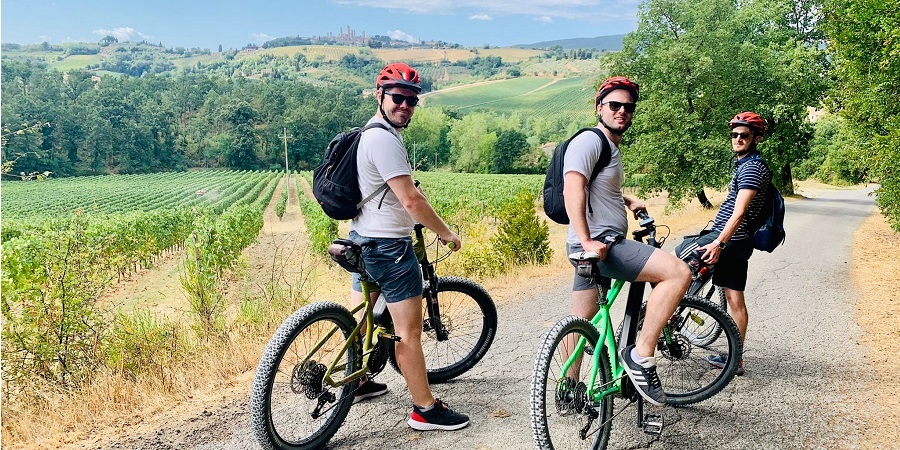 Bike tour in the beautiful area of San Gimignano